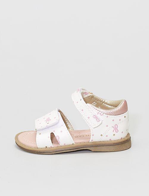 Sandales bicolores                             blanc