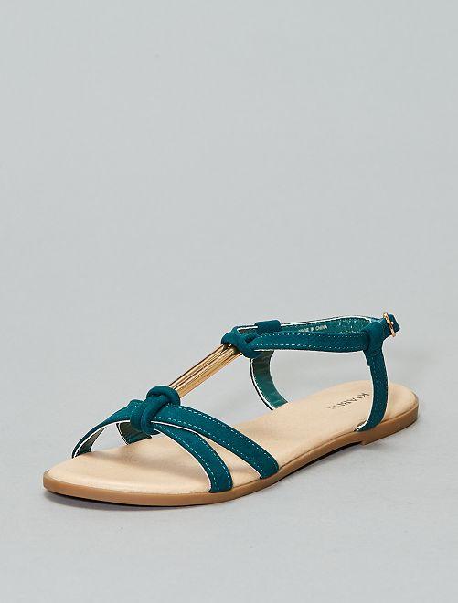 Sandales bijou en suédine                                         vert Chaussures