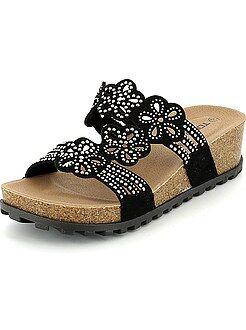 Sandales à talons - Sandales compensées avec strass - Kiabi