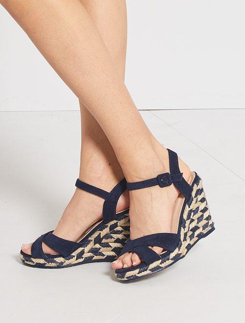 Sandales compensées                                         bleu