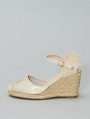 Compensées FemmeSandales Chaussures Soldes Pas Cher JFKlcT13