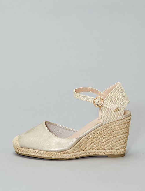 Sandales compensées                                                     doré Femme
