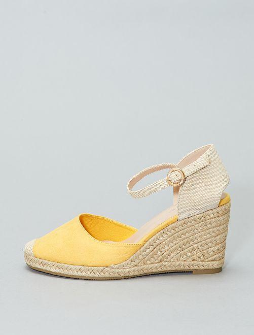 Sandales compensées                                                     jaune Femme
