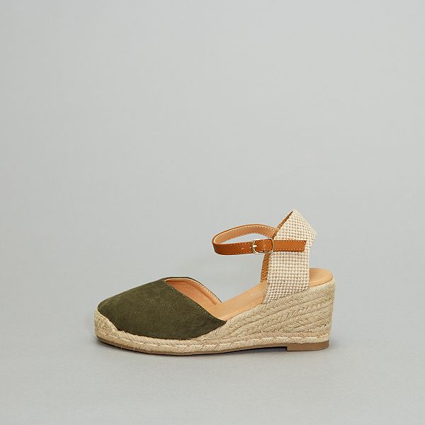 Sandales compensées en corde Femme noir Kiabi 18,00€