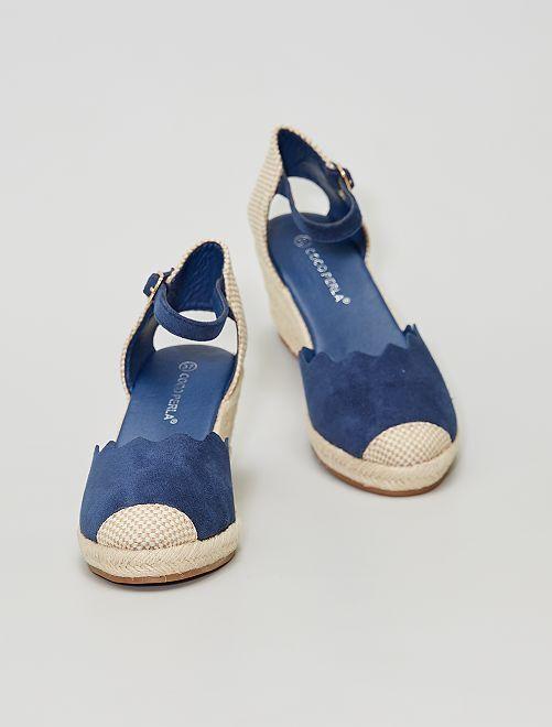 Sandales compensées                                                                 marine