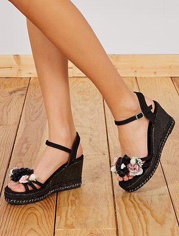 ecc823bd6fa8a Soldes sandales à talons femme, sandales compensées & plateforme ...