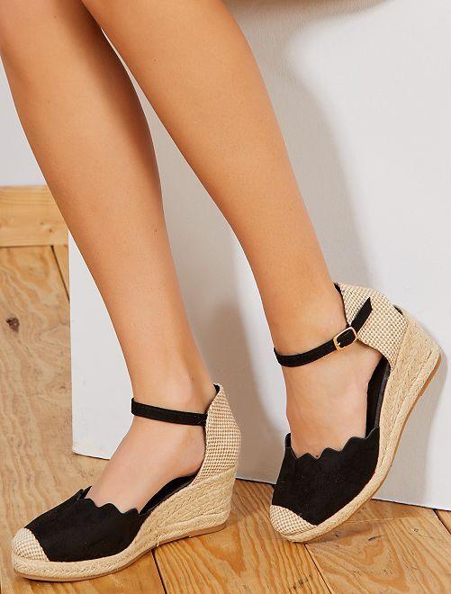 Sandales compensées                             noir Femme