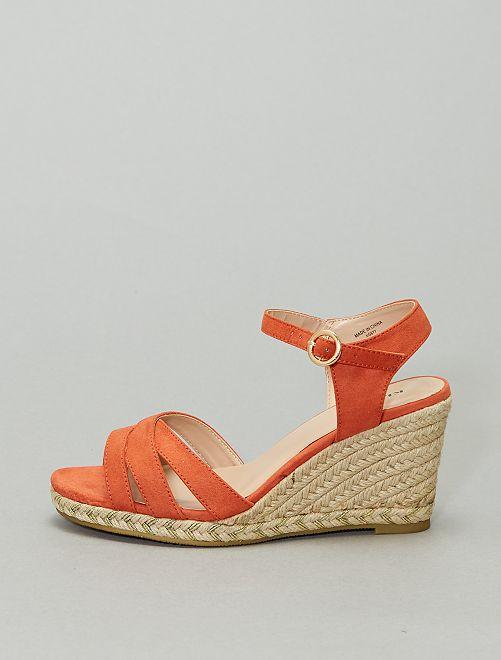 Sandales compensées                             orange