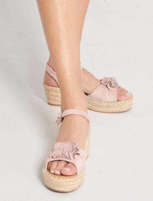 Sandales compensées                     rose
