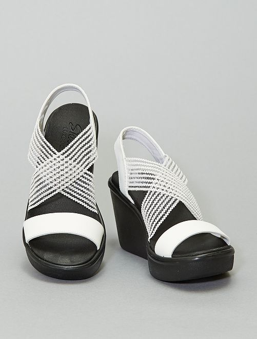 Sandales compensées 'Skechers'                             blanc