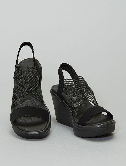 Sandales compensées 'Skechers'                                         noir