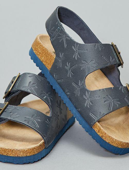 Sandales confort motif palmier                                         bleu navy Garçon