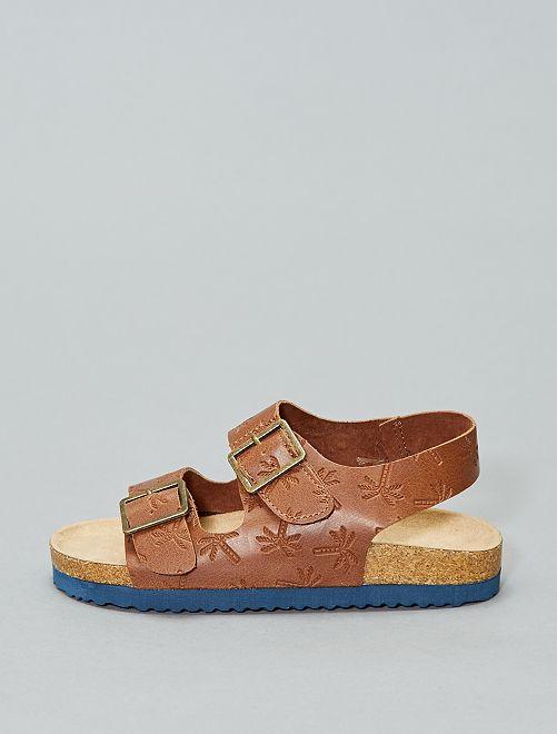 Sandales confort motif palmier                                         marron Garçon