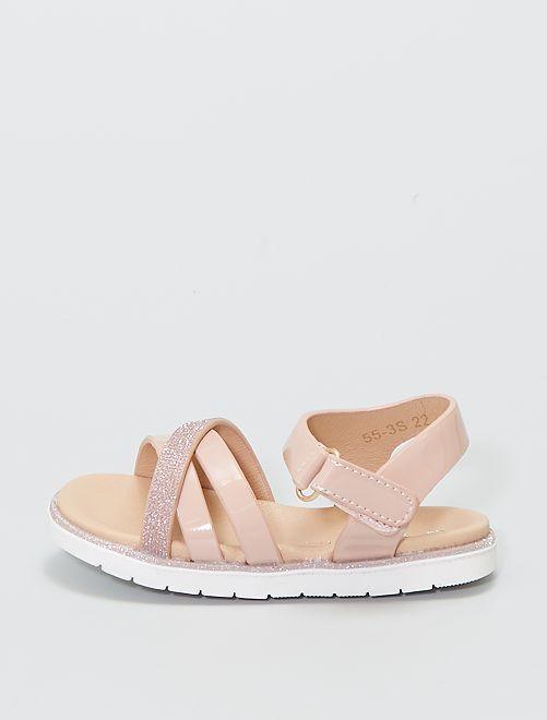 Sandales croisées                             rose