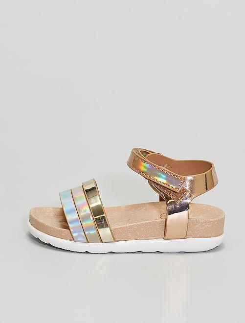 Sandales dorés                             beige