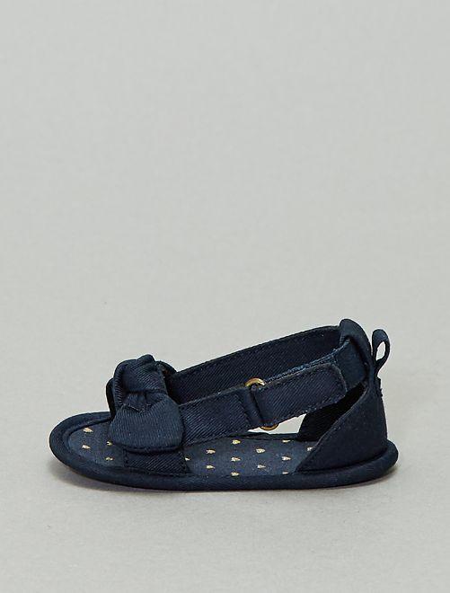 Sandales effet denim                                         BLEU