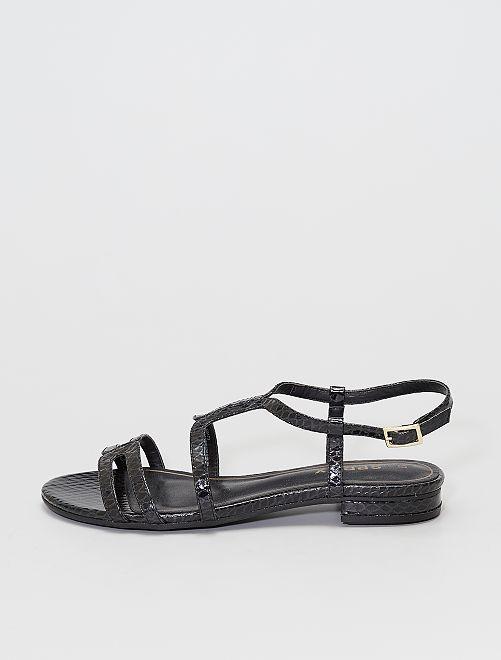 Sandales effet écailles                             noir