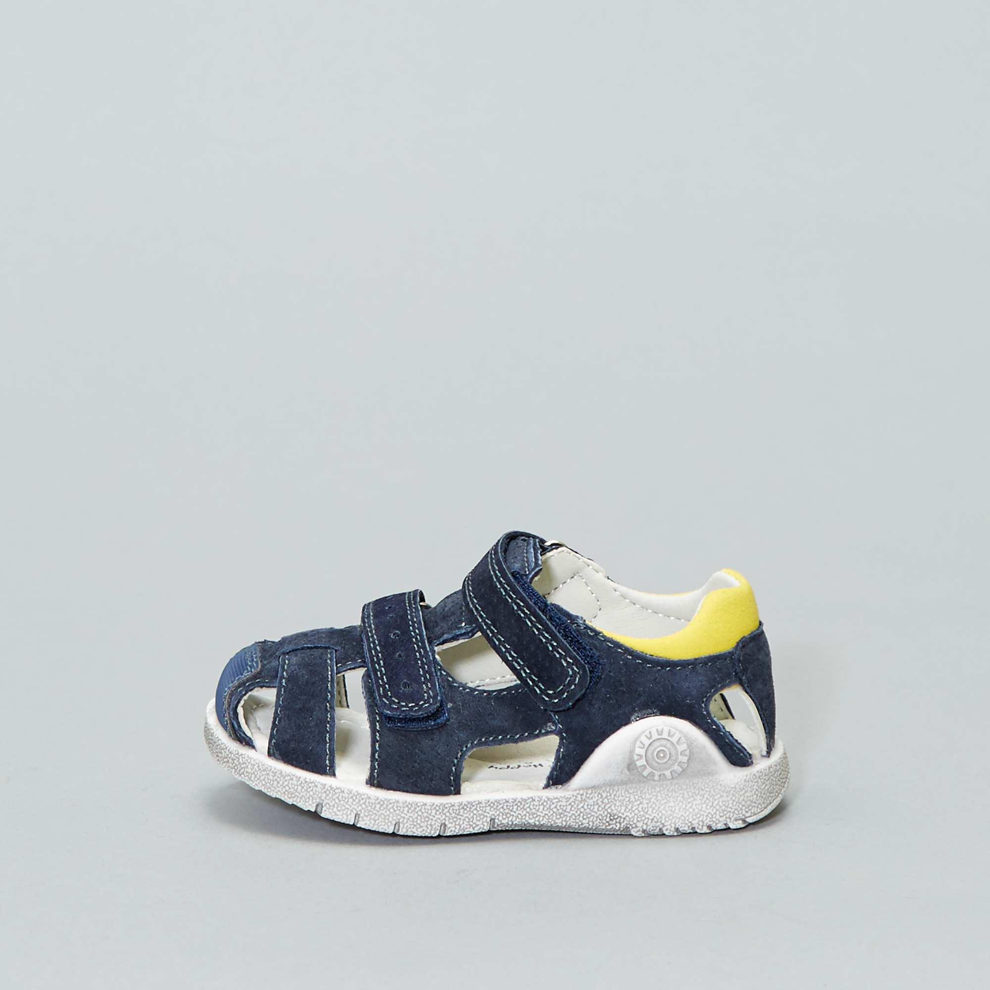 be67281810889 Sandales en croûte de cuire Chaussures - marine - Kiabi - 19