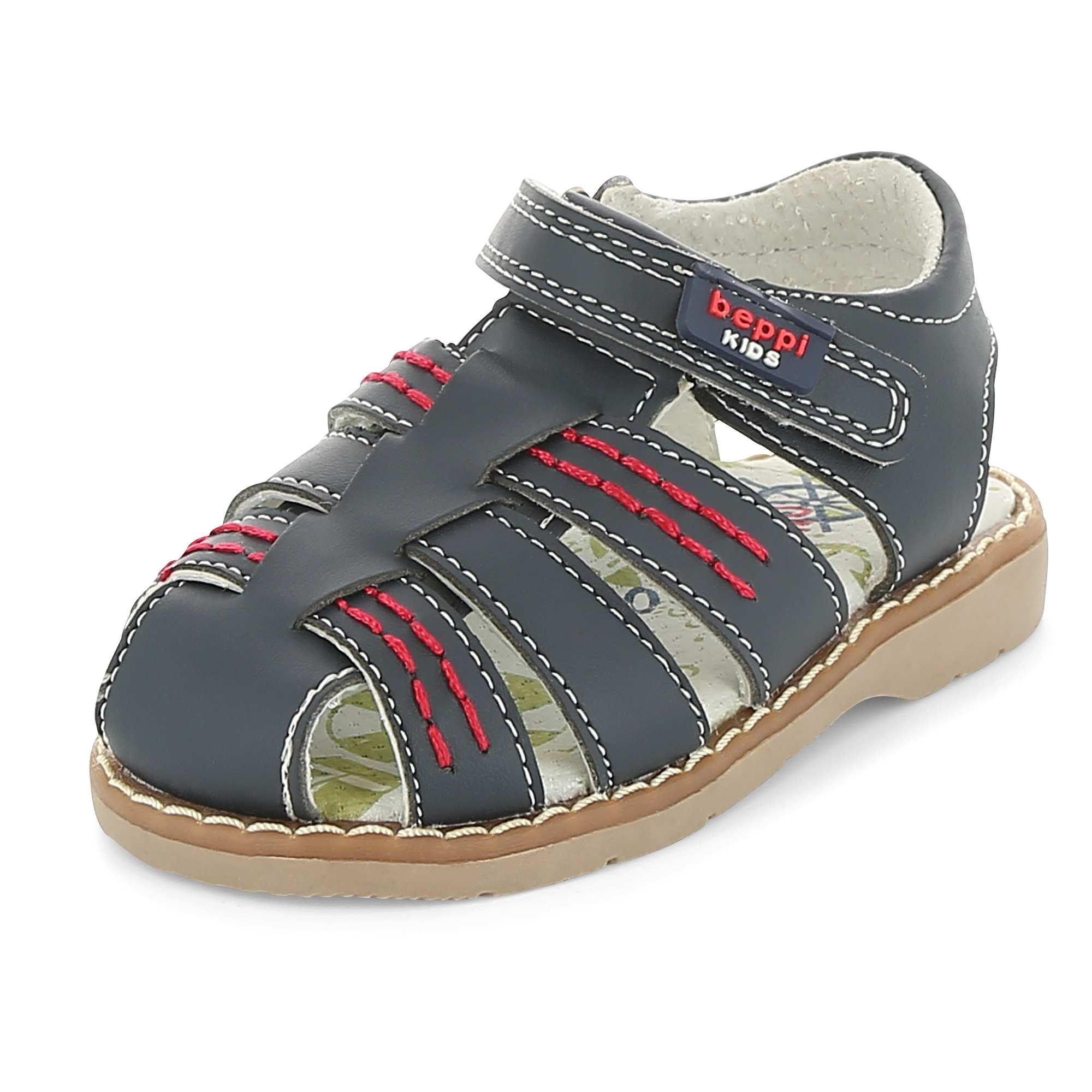sandales en cuir gar on bleu kiabi 18 00. Black Bedroom Furniture Sets. Home Design Ideas
