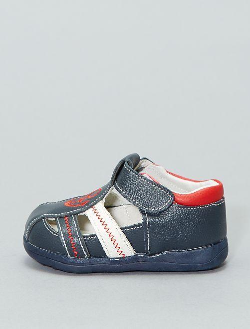 Sandales en cuir                             bleu navy Garçon