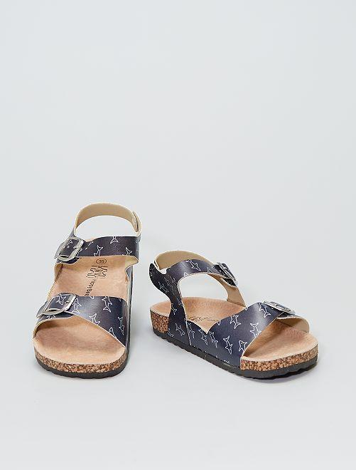 Sandales en cuir                             bleu navy