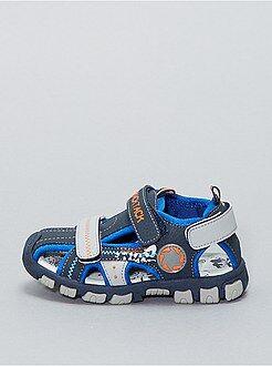 Sandales en simili 3 scratchs - Kiabi