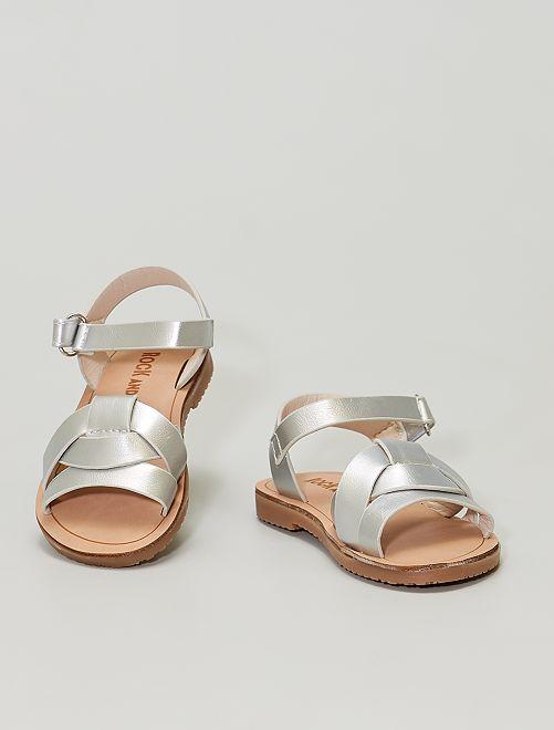 Sandales en simili argenté                             argent