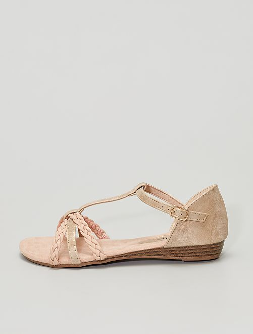 Sandales en simili                     beige