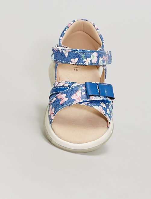 Sandales en simili                             bleu