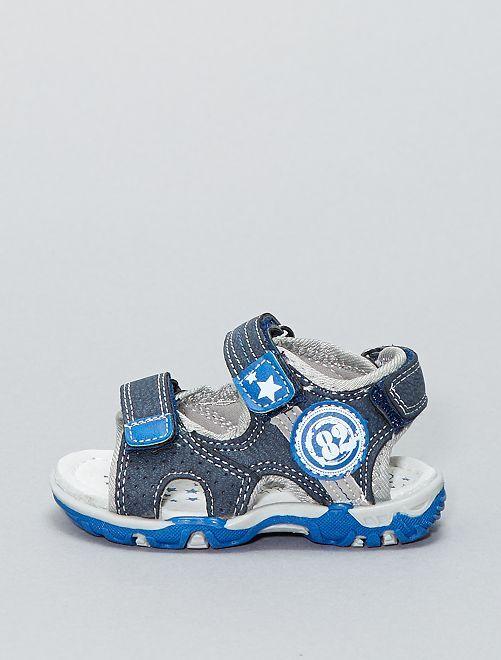 Sandales en simili                             bleu navy
