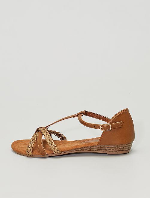 Sandales en simili                                         bronze