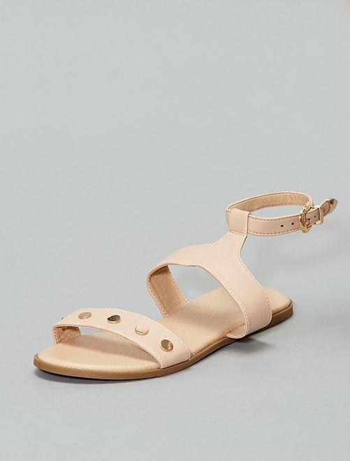 Sandales en simili détail doré                             rose Chaussures
