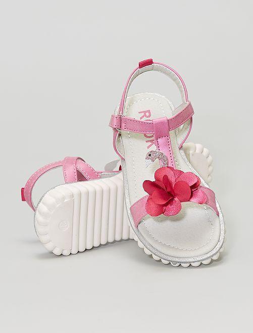 Sandales en  simili                             fuchsia