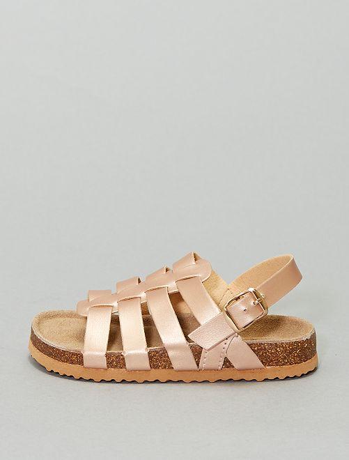 Sandales en simili irisé 'Beppi'                             rose