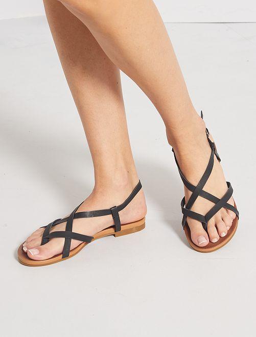 Sandales en simili irisé                     noir