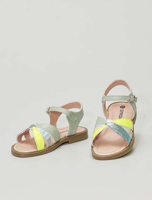 Sandales en simili                             kaki