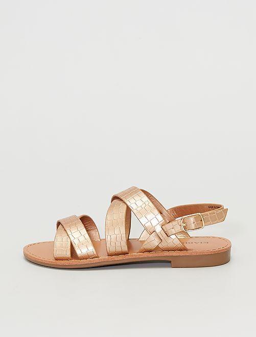 Sandales en simili                                         rose