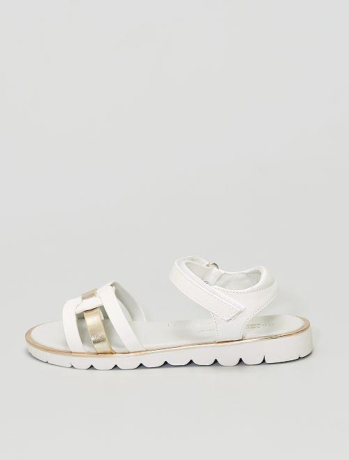Sandales en simili verni                                         blanc