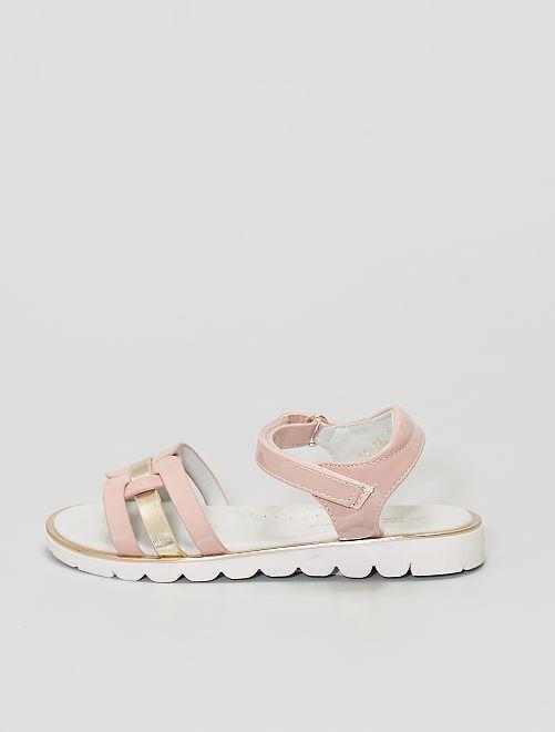 Sandales en simili verni                                         rose