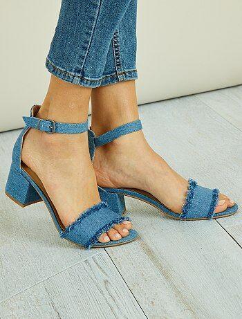 Chaussures - Sandales en style denim - Kiabi