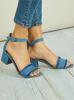 Chaussures femme - Sandales en style denim - Kiabi
