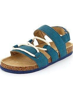 Chaussures, chaussons - Sandales en suédine avec cordes - Kiabi
