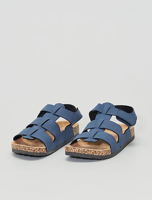 Sandales en suédine                     bleu navy