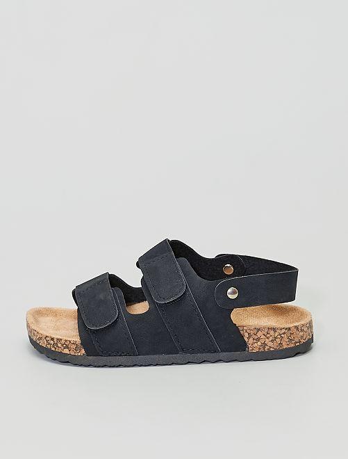 Sandales en suédine                             noir