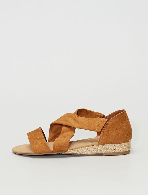 Sandales en suédine                                         taupe