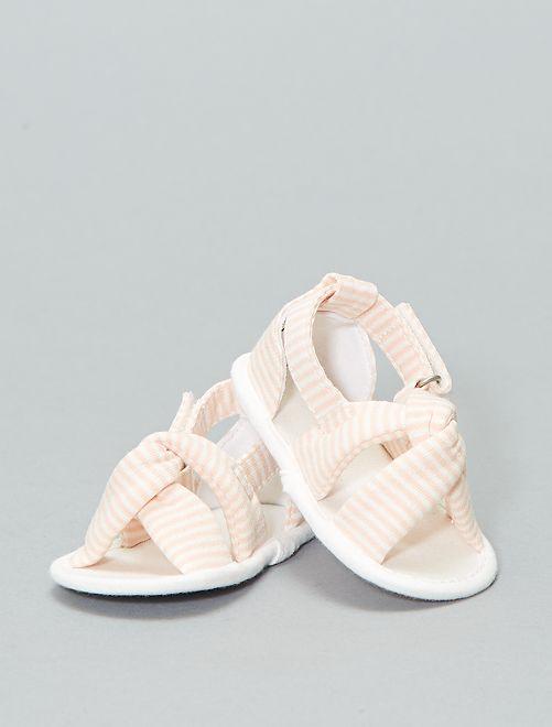 Sandales en toile                             BLANC Bébé fille