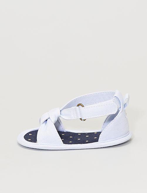 Sandales en toile                                         bleu