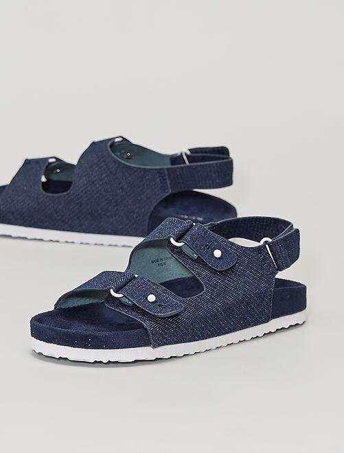 Sandales en toile                             denim