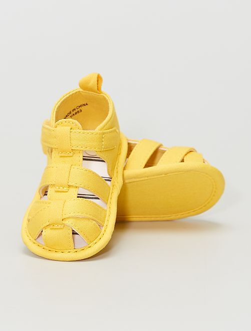 Sandales en toile                             jaune