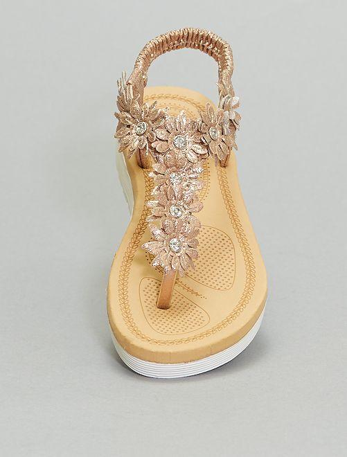 Sandales entre-doigts                             rose